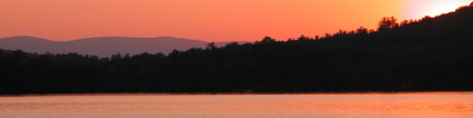 Sunset over Lake Christopher